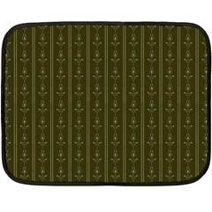 Vintage Wallpaper Double Sided Fleece Blanket (mini)