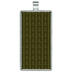 Vintage Wallpaper Rectangle Necklace