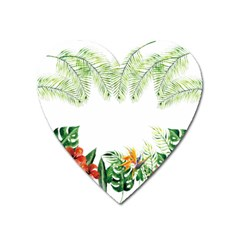 Watercolor Tropical Bottle Border Heart Magnet by AnjaniArt