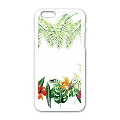 Watercolor Tropical Bottle Border Apple Iphone 6/6s White Enamel Case