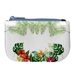 Watercolor Tropical Bottle Border Large Coin Purse