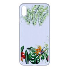 Watercolor Tropical Bottle Border Apple Iphone Xs Max Seamless Case (white) by AnjaniArt