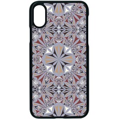Triangle Pattern Kaleidoscope Apple Iphone X Seamless Case (black) by AnjaniArt