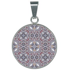 Triangle Pattern Kaleidoscope 25mm Round Necklace