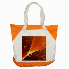 Valentine Heart Love Gold Accent Tote Bag by AnjaniArt