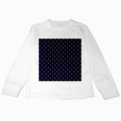 Texture Pattern Kids Long Sleeve T Shirts by AnjaniArt