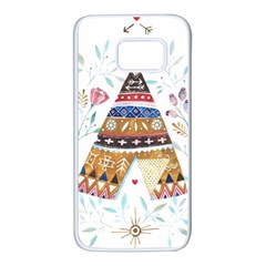 Triangle Tent Samsung Galaxy S7 White Seamless Case by AnjaniArt