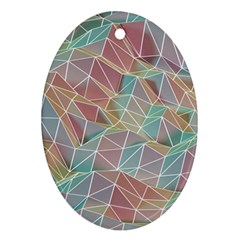Triangle Mesh Render Background Oval Ornament (two Sides)