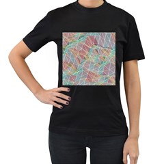 Triangle Mesh Render Background Women s T Shirt (black) by AnjaniArt