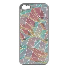 Triangle Mesh Render Background Apple Iphone 5 Case (silver) by AnjaniArt