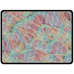 Triangle Mesh Render Background Double Sided Fleece Blanket (large)  by AnjaniArt