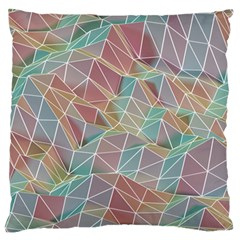 Triangle Mesh Render Background Large Flano Cushion Case (one Side)