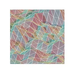 Triangle Mesh Render Background Small Satin Scarf (square) by AnjaniArt