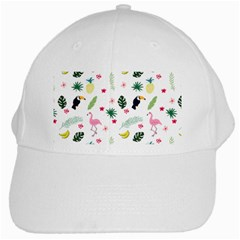 Tropical Vector Elements Peacock White Cap by Alisyart