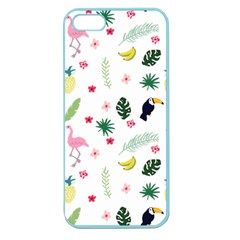 Tropical Vector Elements Peacock Apple Seamless Iphone 5 Case (color) by Alisyart