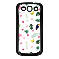Tropical Vector Elements Peacock Samsung Galaxy S3 Back Case (black)