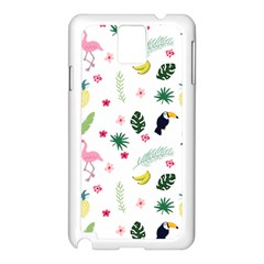 Tropical Vector Elements Peacock Samsung Galaxy Note 3 N9005 Case (white)