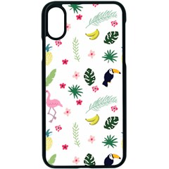 Tropical Vector Elements Peacock Apple Iphone Xs Seamless Case (black)