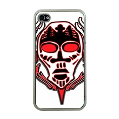 Visual Arts Skull Apple Iphone 4 Case (clear)