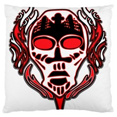 Visual Arts Skull Large Flano Cushion Case (two Sides)