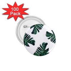 Watercolor Dark Green Banana Leaf 1 75  Buttons (100 Pack)