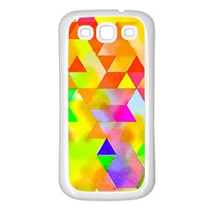 Watercolor Paint Blend Samsung Galaxy S3 Back Case (white)