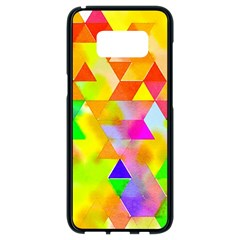 Watercolor Paint Blend Samsung Galaxy S8 Black Seamless Case by Alisyart