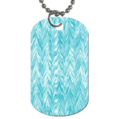 Zigzag Backdrop Pattern Dog Tag (two Sides)
