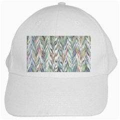 Zigzag Backdrop Pattern Grey White Cap