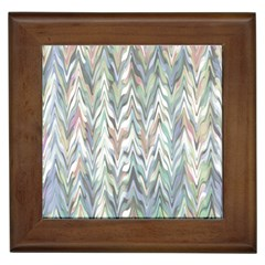 Zigzag Backdrop Pattern Grey Framed Tiles