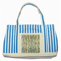 Zigzag Backdrop Pattern Grey Striped Blue Tote Bag