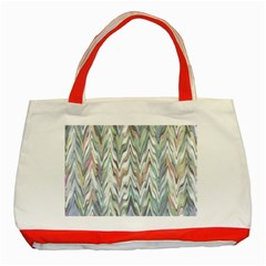 Zigzag Backdrop Pattern Grey Classic Tote Bag (red)