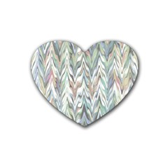 Zigzag Backdrop Pattern Grey Heart Coaster (4 Pack)