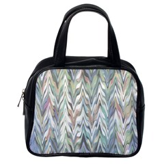 Zigzag Backdrop Pattern Grey Classic Handbag (one Side)