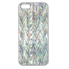 Zigzag Backdrop Pattern Grey Apple Seamless Iphone 5 Case (clear)