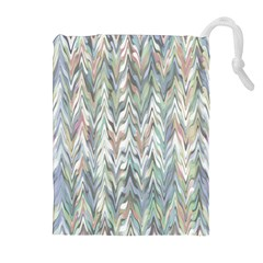 Zigzag Backdrop Pattern Grey Drawstring Pouch (xl) by Alisyart