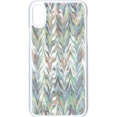 Zigzag Backdrop Pattern Grey Apple Iphone Xs Seamless Case (white)