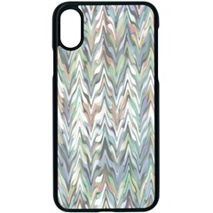 Zigzag Backdrop Pattern Grey Apple Iphone Xs Seamless Case (black)