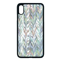 Zigzag Backdrop Pattern Grey Apple Iphone Xs Max Seamless Case (black)