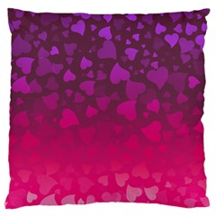 Purple Pink Hearts  Standard Flano Cushion Case (two Sides)