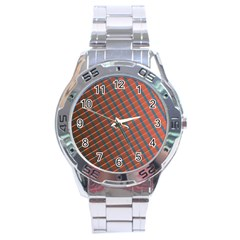 Graphic Stripes Stainless Steel Analogue Watch