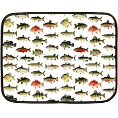 Ml 71 Fish Of North America Double Sided Fleece Blanket (mini)  by ArtworkByPatrick