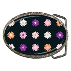 Flower Background Wallpaper Modern Belt Buckles