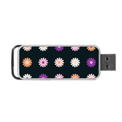 Flower Background Wallpaper Modern Portable Usb Flash (one Side)