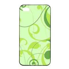 Floral Decoration Flowers Green Apple Iphone 4/4s Seamless Case (black) by Jojostore