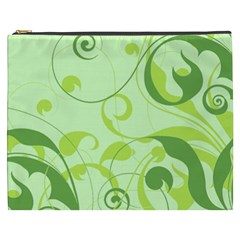 Floral Decoration Flowers Green Cosmetic Bag (xxxl) by Jojostore