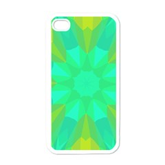 Kaleidoscope Background Apple Iphone 4 Case (white)