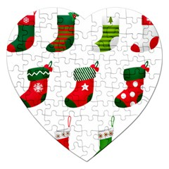 Christmas Stocking Candle Jigsaw Puzzle (heart)