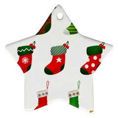 Christmas Stocking Candle Star Ornament (two Sides)