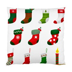 Christmas Stocking Candle Standard Cushion Case (two Sides) by Mariart
